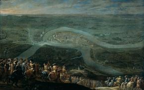 Picture oil, picture, Lambert de Hondt II, The troops of Louis XIV