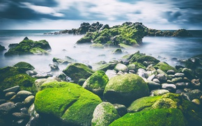 Wallpaper sea, stones, shore