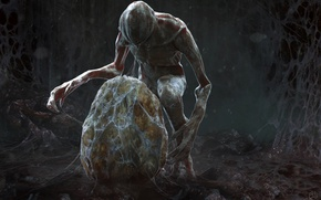 Picture egg, creature, Demogorgon