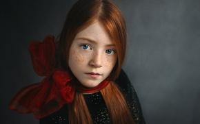 Picture portrait, girl, freckles, Freya