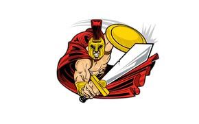 Picture sword, Warrior, helmet, shield