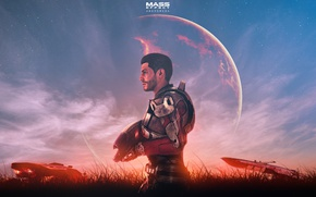 Picture planet, machine, armor, art, bioware, Mass Effect: Andromeda, Scott Ryder
