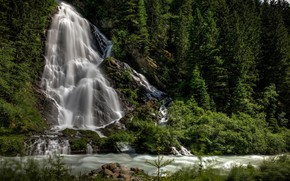 Picture Waterfall, River, Forest