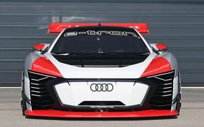 Picture Audi, racing car, Vision, front view, 2018, Gran Turismo, E-Tron