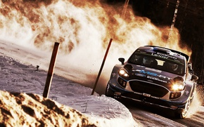 Picture car, Ford, sport, Sweden, rally, snow, Ford Fiesta, There Miss, M-Sport