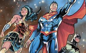 Picture batman, superman, comics, heroes, justice league, wonder Woman