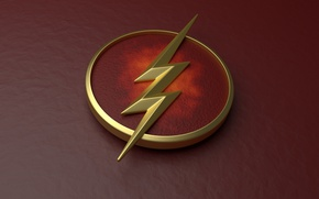 Picture red, logo, The Flash, Grant Gustin, Barry Allen