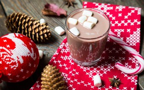 Picture Xmas, New Year, Merry Christmas, marshmallows, Christmas, decoration, marshmallow, cocoa, cup, Cup, decoration, holiday celebration, …