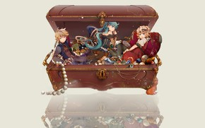 Picture decoration, anime, art, box, jewelry, Vocaloid, Vocaloid, characters