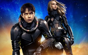 Wallpaper cinema, girl, movie, face, blonde, film, suit, scar, Cara Delevingne, Dane DeHaan, Valérian and Laureline, ...