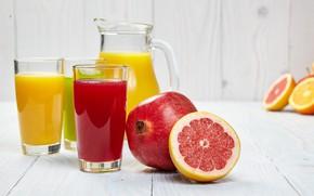 Picture juice, citrus, drink, garnet