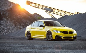 Picture BMW, Light, Black, Yellow, F82, Stones, LED, Career