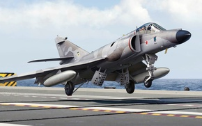 Picture figure, French supersonic carrier-based attack aircraft, Super Standard, Dassault-Breguet