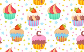 Picture Background, Texture, Cupcakes