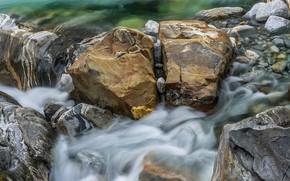 Picture water, stream, stones, stream