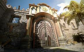 Picture wall, gate, entrance, gate entrance, HOPA scenes