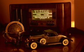 Picture style, radio, machine, globe, model