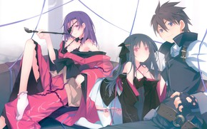 Picture girls, anime, art, guy, machine-doll wa kizutsukanai