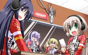 Picture sport, bike, girls, anime, asian, manga, japanese, oriental, asiatic, headphone, fortuna, Long Riders, Long Riders!