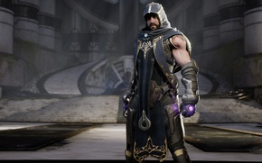 Picture game, weapon, man, hood, Paragon