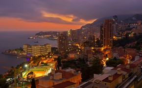 Picture lights, France, home, panorama, Monaco, Provence, Beausoleil