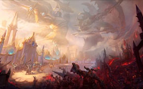 Wallpaper battle, hots, heroes of the storm, Angel and Demon