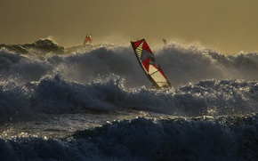 Wallpaper sail, the wind, Board, wave, Windsurfing, sea