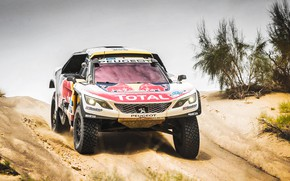 Wallpaper Peugeot 3008 DKR, Red Bull, Sport, Speed, Silk Way, Silk road, Dirt, Sport, Lights, DKR, ...