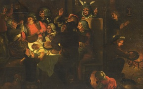 Picture tree, oil, picture, feast, genre, Epiphany, The Feast Of The Three Kings