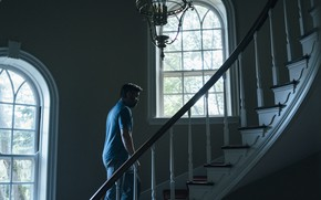 Picture cinema, man, movie, Colin Farrell, film, ladder, Cannes 2017, The Killing of a Sacred Deer