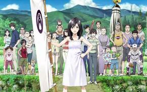 Picture girl, anime, japanese, vegetation, bishojo, Summer Wars