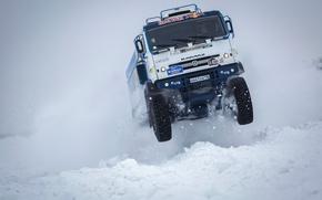 Picture Winter, Snow, Truck, Master, Russia, Kamaz, Rally, KAMAZ, Power, Best, RedBull, Master, The Arctic
