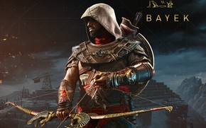 Picture weapons, meadow, assassin, Assassin's Creed, Assassin's Creed: Origins, Bayek, Biek, Origins, medjai