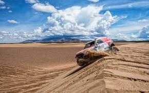 Picture Sand, Mini, Dust, Sport, Desert, Speed, Race, Rally, Dakar, Dakar, SUV, Rally, Dune, 316, X-Raid …