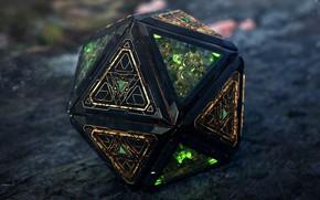 Picture art, 3D steampunk magic thingy, Davison Carvalho, icosahedron