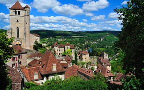 Picture France, The city, Landscape, Rocamadour