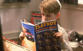 Picture movie, new year, Christmas, playboy, boy, home alone, Culkin McCullen