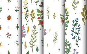 Picture flowers, background, texture, patterns, twigs, floral, seamless
