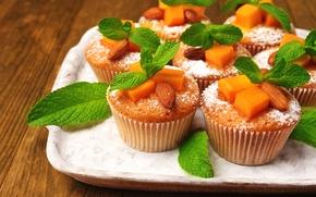 Picture mint, dessert, muffin