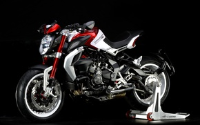Picture Moto, motorcycle, bike, bike, motorcycle, background black, Moto, superbike, sportbike, Brutale, background black, 800 Dragster ...