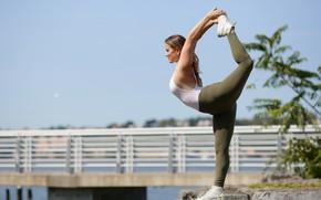 Picture girl, pose, gymnastics, legs, stretching, Alexa