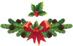 Picture Branches, bumps, Vector graphics, Holly