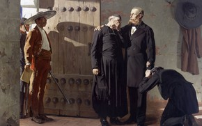Picture picture, genre, Jean-Paul Laurens, Jean-Paul Lawrence, Mexican Emperor Maximilian Before His Execution