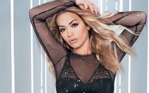 Wallpaper look, portrait, singer, Rita Ora
