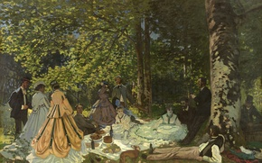 Picture Claude Monet, Claude Monet, Breakfast on the grass, The luncheon on the grass, State Museum ...