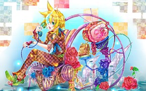 Picture anime, art, phone, Vocaloid, Vocaloid, characters
