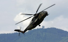 Picture Sikorsky, heavy, transport helicopter, CH-53G