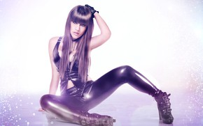 Picture pose, background, feet, shoes, latex, Tanit Isis