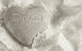 Picture macro, background, heart, Dream