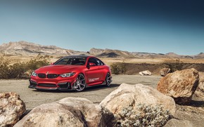 Picture landscape, red, BMW M4